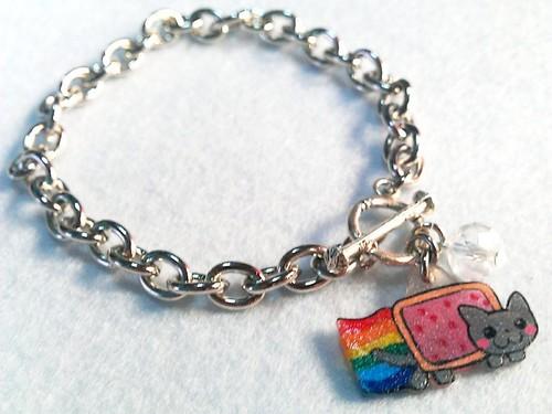 nyan cat bracelet