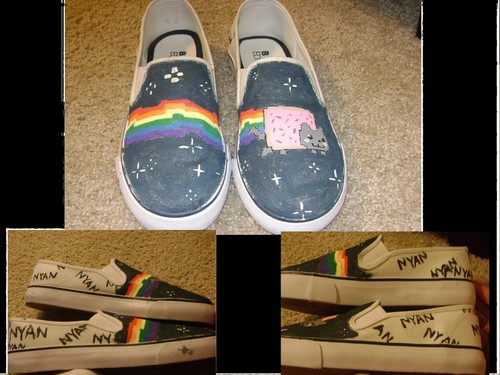 nyan cat shoes