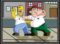 peter vs. homer - family-guy fan art