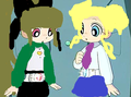 sakura (blos) and sunko (bule) - powerpuff-girls-z fan art