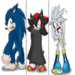 sonic and shadow and silver at halloween - sonic-shadow-and-silver icon