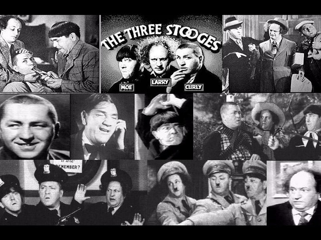 THE THREE STOOGES - Three Stooges Wallpaper (29303288) - Fanpop