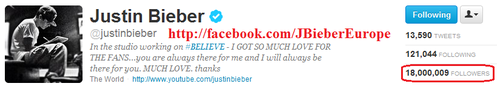 #18Million Beliebers On Twitter <3