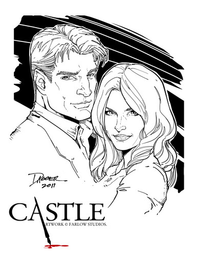 Caskett wallpaper possibly with anime titled ★ Caskett Draw ★