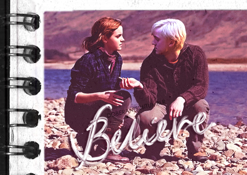 Dramione wallpaper with a sign entitled [Draco/Hermione]