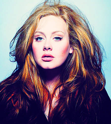 Adele Hintergrund possibly with a portrait entitled Adele