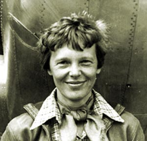 Women in History वॉलपेपर probably containing a green बेरेत, बीरेट, टोपी entitled Amelia Earhart