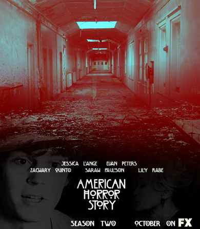 अमेरिकन हॉरर स्टोरी वॉलपेपर probably containing a sign, a street, and a railroad tunnel entitled American Horror Story - Season 2 - प्रशंसक made Poster