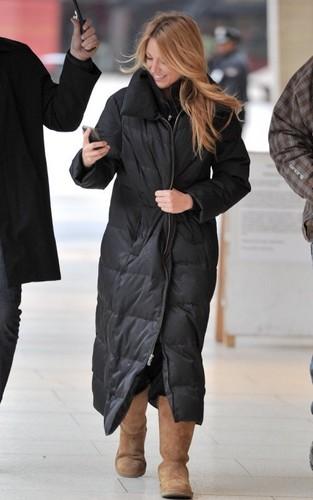 Blake arriving on the set