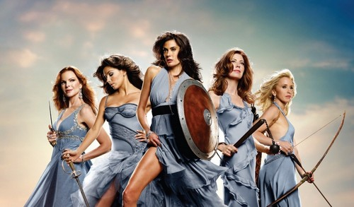 Desperate Housewives wallpaper possibly containing a dinner dress titled Cast
