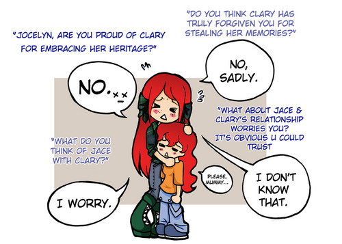 Clary and Jocelyn