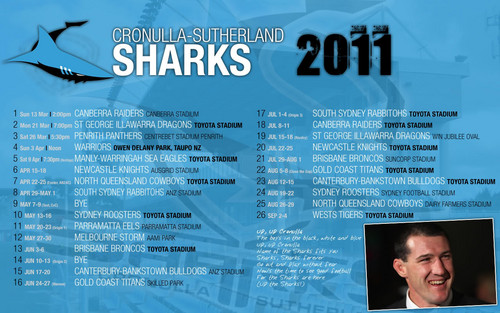 Croneller Sharks Draw 2011