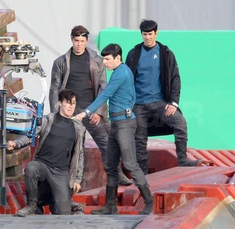 Cumberbatch shooting étoile, star Trek 2