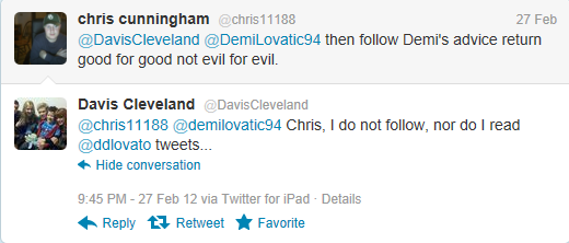 Davis Cleveland hating on Demi Lovato >:(