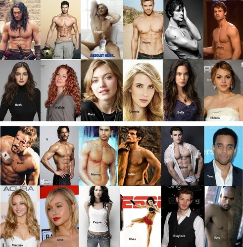 The Black Dagger Brotherhood wallpaper probably with a portrait entitled Fantasy Cast BDB