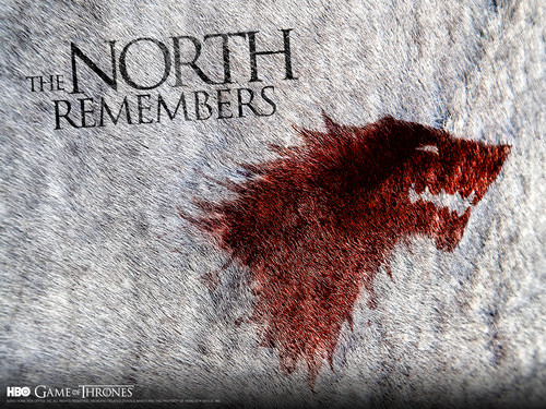 Game of Thrones wallpaper possibly containing a sign and a chainlink fence titled The North Remembers