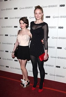 Game Of Thrones - DVD premiere- Sophie Turner & Maisie Williams