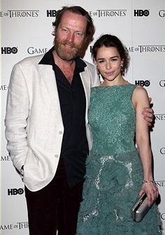 Game Of Thrones - DVD premiere- Iain Glen & Emilia Clarke