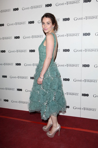Game Of Thrones - DVD premiere- Emilia Clarke