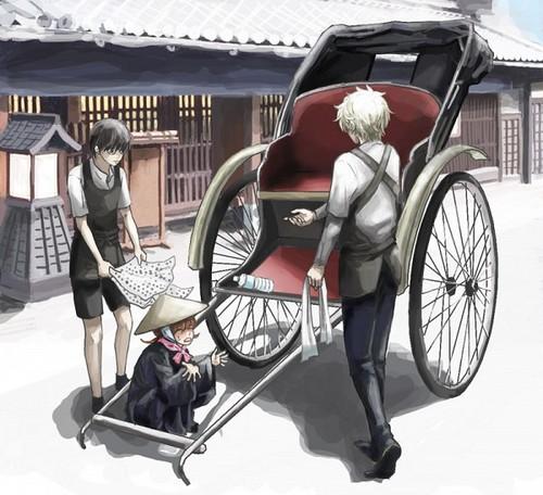 Gintok, Kagura & Shinpachi x3