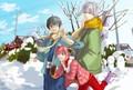 Gintoki, Shinpachi & Kagura x3
