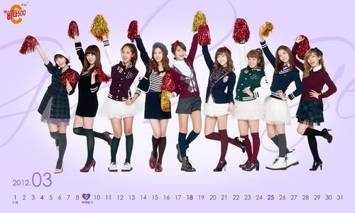 Girls' Generation Vita500 2012 March calendar