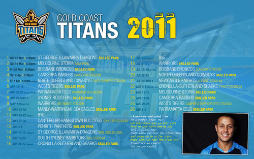 Золото Coast Titans Draw 2011