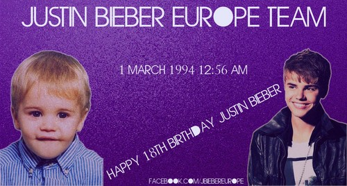 Happy 18th Birthday Justin Bieber