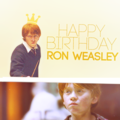 Happy Birthday Ron - ronald-weasley photo