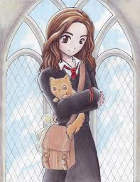 Hermione Granger wallpaper containing a chainlink fence entitled Hermione and Crookshanks