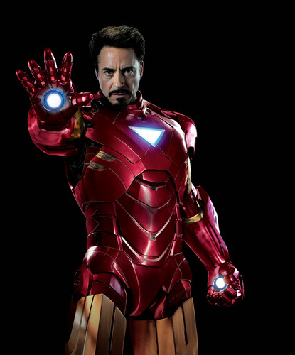 The Avengers kertas dinding containing a breastplate and an armor plate titled Iron Man / Tony Stark
