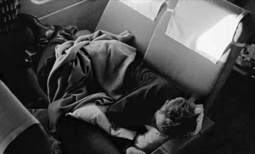 James Sleeping On A Plane