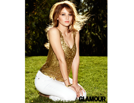 Jennifer Lawrence hình nền probably with a bustier, nịt entitled Jen in Glamour