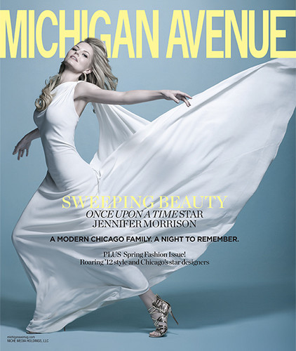 Jennifer Morrison on the Cover of the March 2012 Issue of Michigan Avenue Magazine