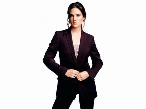 Jennifer Connelly پیپر وال containing a well dressed person, a business suit, and a suit called Jennifer