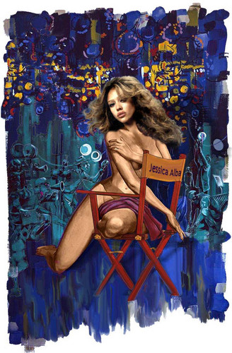 Jessica Alba painting