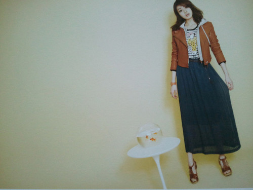 Kang Sora wallpaper probably containing a well dressed person entitled Kang Sora @ Muzak Endorsement Scan