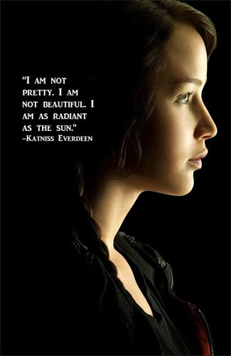 Katniss Everdeen wallpaper probably with a portrait called Katniss Everdeen Quote