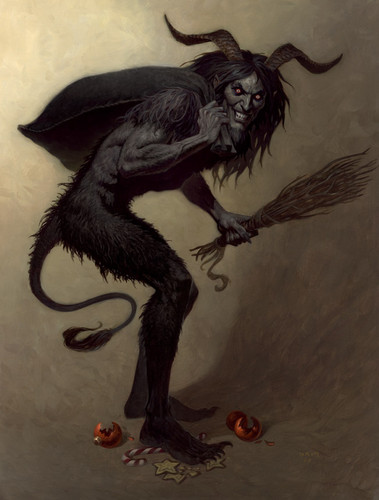 Krampus artwork sejak Brom