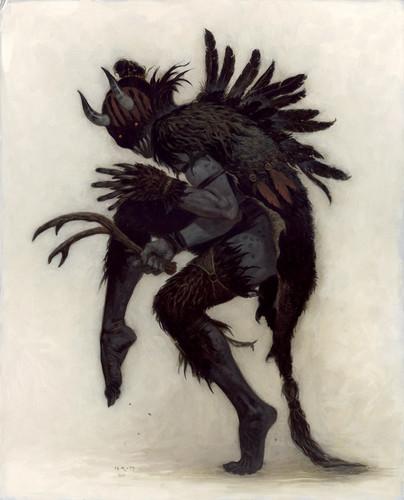 Krampus artwork by Brom