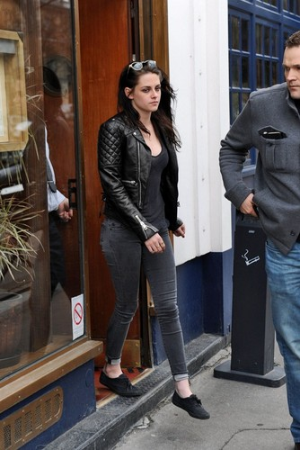 Kristen Stewart leaving Le Duc Restaurant in Paris, France - March 1, 2012.