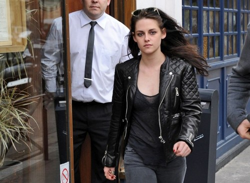 Kristen Stewart leaving Le Duc Restaurant in Paris, France - March 1, 2012. - kristen-stewart Photo