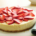 Lemon &amp; Strawberry Cheesecake - cheesecake photo