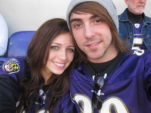Lisa and Alex at a Ravens game