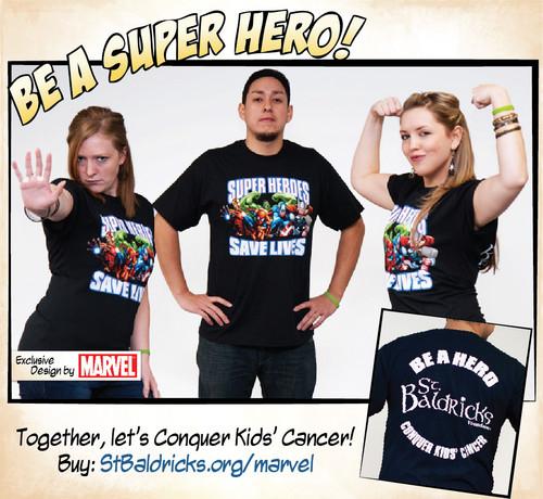 Marvel Super 超能英雄 Save Lives 衬衫