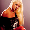 Maryse Ouellet photo with a bustier, a chemise, and a portrait titled Maryse