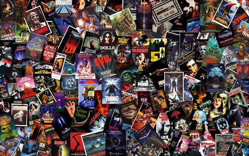 Massive B-Horror Collage Wallpaper