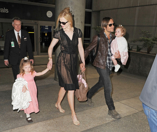 Nicole Kidman and Keith Urban at the Airport