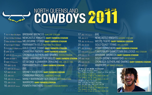 North Queensland Cow Boys Draw 2011