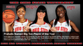 OSU 2012 WOMEN'S B1G BASKETBALL AWARD WINNERS - basketball photo